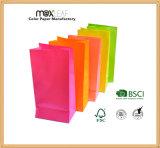 Sac de achat coloré de papier d'emballage avec l'impression polychrome