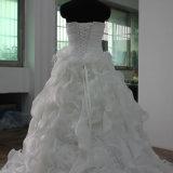 Vestito da cerimonia nuziale senza bretelle elegante dell'abito nuziale di Organze