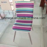 Ss 다리 (FOH-BC38-C)를 가진 형식에 의하여 줄무늬로 하는 디자인 직물 대중음식점 의자