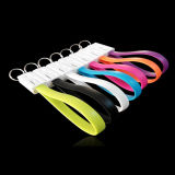 Ios 인조 인간을%s 창조적인 열쇠 고리 이동 전화 USB 케이블