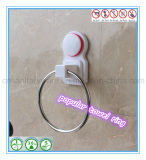 Anello di tovagliolo cromato ABS fissato al muro degli accessori della stanza da bagno con la tazza di aspirazione