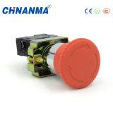 Iluminado no interruptor de tecla do anel do diodo emissor de luz do aço inoxidável