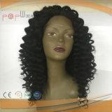인도 Virgin 머리 아프로 비꼬인 꼬부라진 가득 차있는 레이스 가발
