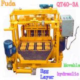Qt40-3A hydraulische bewegliche Ei-Schicht-konkrete hohle feste Block-Ziegeleimaschine