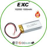 bateria Li-Po recarregável da bateria 105020 1000mAh