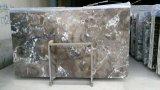 Lajes de mármore cinzentas do projeto novo, painel de parede do PVC, lajes de mármore cultivadas