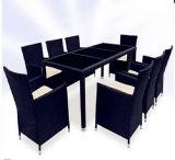 il nero 9PCS e vimine del Brown che pranza l'insieme della mobilia