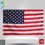 Indicateur de pays américain avec le drapeau s'arrêtant d'impression de qualité