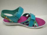 女の子の夏のサンダルの花プリント子供の靴