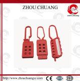 빨간색 다채로운 안전 통제와 함께 사용되는 나일론 차단 걸쇠