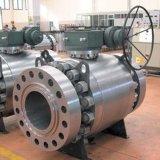 Шариковый клапан Trunnion кованой стали фланца API 6D фабрики Китая