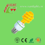 Espiral colorida CFL, cor que ilumina lâmpadas energy-saving