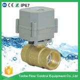 "1 "" vávula de bola eléctrica motorizada 24V del agua del latón DC12V de la pulgada normalmente cerrada"