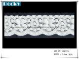 최신 판매 레이스 부속품 탄력 있는 레이스 손질