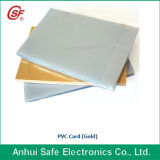 A4 Size Instant PVC/Pet Card mit White/Gold/Silver Color
