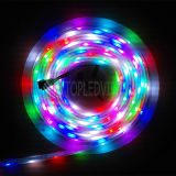 Decorativo 5050 60LEDs Digital IC RGB Color que cambia la tira del LED
