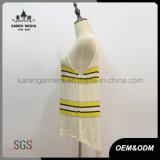 Vestiti Ciao-Lo delle donne a strisce lavorate a maglia Sleeveless del bordo