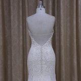 Champagne que perla o vestido elegante de Weddign da sereia do laço