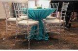 Resina clara silla de la boda de Tiffany