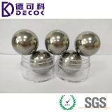 Pequeña bola de acero 50.8m m sólida de acero de la bola 3.96m m 4.7625m m 6.35m m