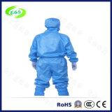 Indumento blu del lavoro di alta qualità ESD con la protezione (disegno) di apertura del piedino (EGS-PP23), grembiule antistatico (ESD) per uso del locale senza polvere