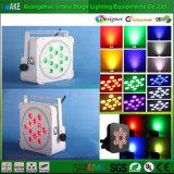 intense lumière sans fil de PARITÉ de batterie du luminosité RGBW DEL de 12PCS 4W