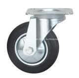 Echador industrial de goma de Europa de la base de hierro de la rueda
