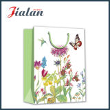 Flores com Best Wishes Art Paper Shopping Gift Paper Bag