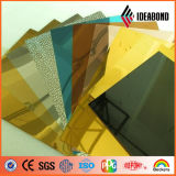 Revestimiento de madera de aluminio del espejo anaranjado de la decoración interior de la sala de estar