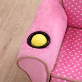 Menina cor-de-rosa sofá esmagado de veludo, sofá da tela do assento de amor