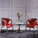 호화스러운 디자인 빨간 가죽 사람 여가 의자 LC13