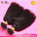 Extensión natural consolidada pura del pelo de la queratina del tirón de la extensión del pelo humano del 100%