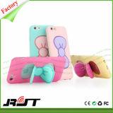 Bowknot 3D Kickstand weicher Silikon-Telefon-Kasten für iPhone 6