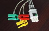 Nec yec-205 6pin Snap&Clip 3&5 de Kabel van de Boomstam ECG