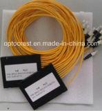 (FTTH, CATV) divisor de fibra óptica do PLC de 1X2 1X8