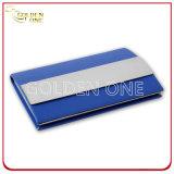 Metal multicolor del asunto y caja de tarjeta conocida de cuero