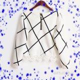 Scuba повелительниц, Knit, печатание нашивки, тенниска круглых втулок шеи длинних вскользь,