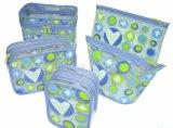 Zak van de Ritssluiting van pvc van de Kwaliteit van Hight de Blauwe Plastic Kosmetische