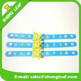 Wristband de borracha do bracelete do PVC 3D