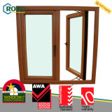 Homes를 위한 다중 Chamber UPVC Plastic Casement Glass Window Design