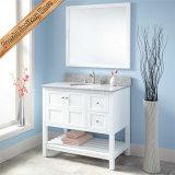 Vanité de salle de bains adaptée aux besoins du client par vente en gros en bois plein