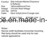 6inch ovales LED mittleres seitliches Drehung-Licht oder Markierungs-Licht 2 Jahr-Garantie