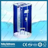 Dark Blue color reversible para la derecha o izquierda de la puerta de cabina de ducha de apertura (SR218L)