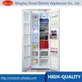 Réfrigérateur side-by-side de film publicitaire avec Icemaker/barre distributeur de l'eau/eau