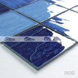 azulejo de mosaico azul mezclado de la piscina de la porcelana de la onda 4 '' x4 '' (BCP003)