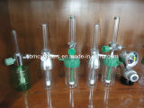 フランス規格協会のアダプターまたはプローブが付いている酸素の流量計