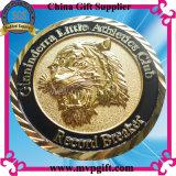 A annoncé la pièce de monnaie en métal 3D avec la couleur d'argent d'or et en bronze