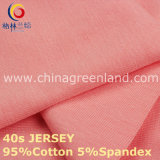 gestricktes Jersey-Gewebe der Baumwolle40s Spandex für Hemd-Gewebe (GLLML218)