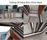 UPVC/PVC Bifoldドアに二重ガラスをはめる高品質