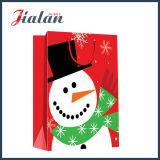 Sac de papier de module estampé par ventes en gros faites sur commande bon marché de Joyeux Noël de mode
